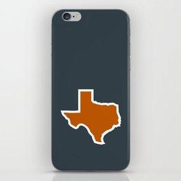 Texas Outline in Burnt Orange, Longhorns iPhone Skin