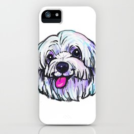 The happy MALTESE Love of My Life iPhone Case