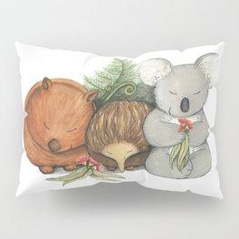 Native Australian Animal Babies – With Koala, Wombat And Echidna Pillow Sham