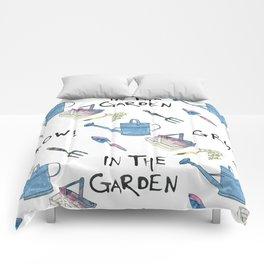 Gardening.  Comforters