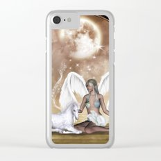 The fairy with wonderful, cute foal unicorn Clear iPhone Case