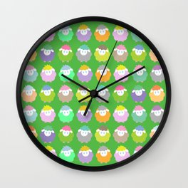 Baby Lambs in the Meadow Wall Clock