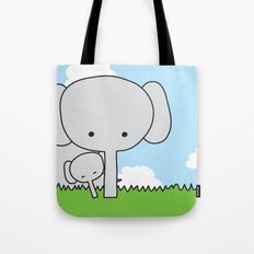 Mommy Elephant Tote Bag