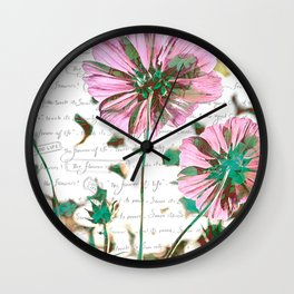 The Flower of Life - Free Hand Calligraphy! Wall Clock