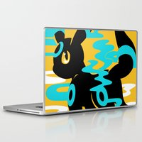 umbreon Laptop & iPad Skins featuring #197 - Umbreon (shiny ver.) by Solis