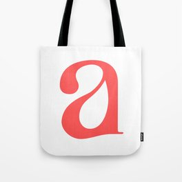 lowercase a Tote Bag