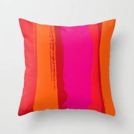 dynamic stripes Throw Pillow