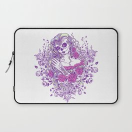 Sexy Woman zombie WITH Flower -  Carla - Vivid Violet - Lavender Laptop Sleeve