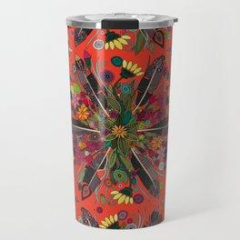 bohemian posy fire Travel Mug