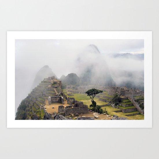 Machu Picchu ruins - Peru Art Print
