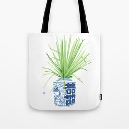 Ginger Jar + Fan Palm Tote Bag