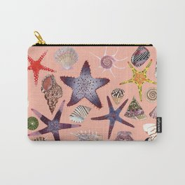 SEASHELLS & STARFISH (LIGHT PINK) Carry-All Pouch