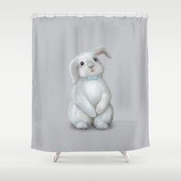 White Rabbit Boy Shower Curtain