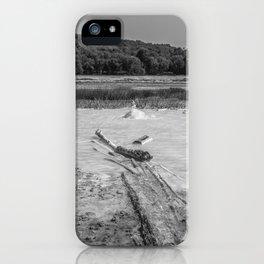 Geyser in background iPhone Case