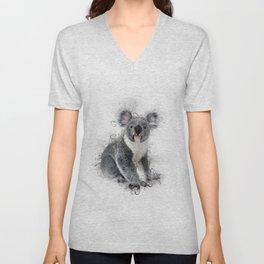 Koala Bear Art Unisex V-Neck
