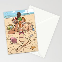 À la plage  Stationery Cards