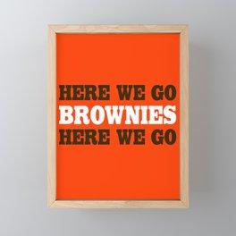 Here We go Brownies Cleveland Framed Mini Art Print
