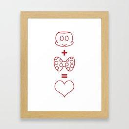 Mickey loves Minnie Framed Art Print