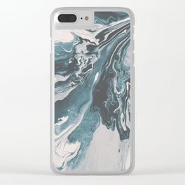 Teal (soul mate) Clear iPhone Case