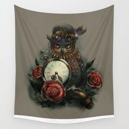 Sir Owl. Steampunk Wall Tapestry