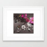 romantic Framed Art Prints featuring Romantic by Million Dollar Design