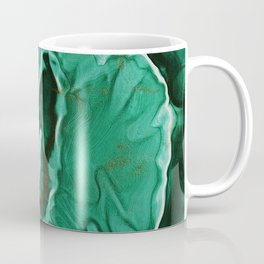 Malachite Marble With Gold Veins Coffee Mug