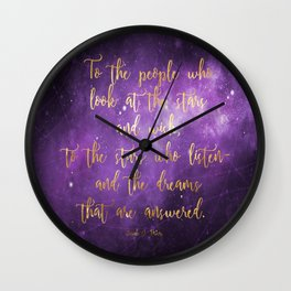 To the Stars - ACOMAF Wall Clock