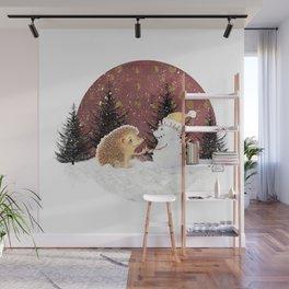 Winter Woodland - Hedgehog Bae Wall Mural