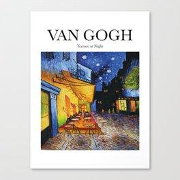 Van Gogh - Terrace at night Canvas Print