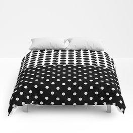Black and white polka dot .3 Comforters