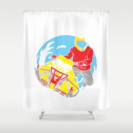 Snowmobiling Gift Make Winter Great Again Snowrider Sled Shower Curtain