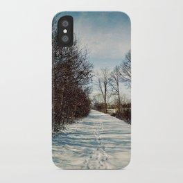 Winter Path iPhone Case