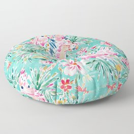 MACAW MOMENTO Colorful Tropical Parrots Floor Pillow