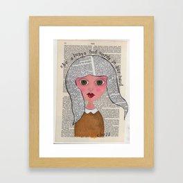 Words In Her Head Framed Art Print
