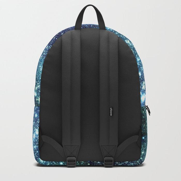 GalaxY Nebula Blue Teal Indigo Backpack