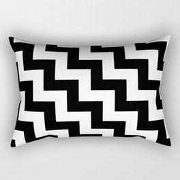 White and Black Steps LTR Rectangular Pillow