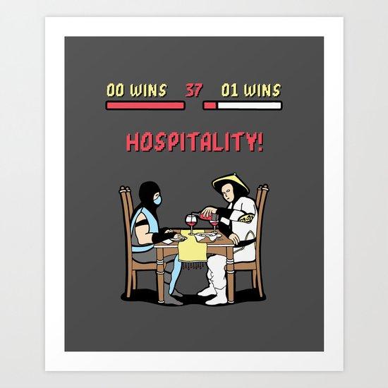 Hospitality! Art Print