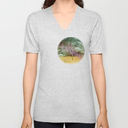 Laundry Line in Abstract Unisex V-Neck