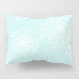DANDY SNOWFLAKE AQUA Pillow Sham
