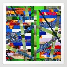 Agnes (stripes 16) Art Print