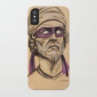 tmnt iPhone & iPod Cases featuring Donnie TMNT by Rachel M. Loose