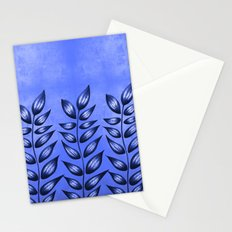 Blue Plant With Pointy Leaves Stationery Cards