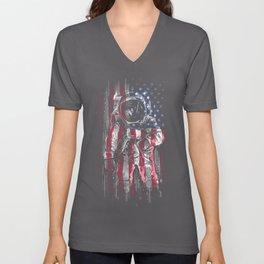 Astronaut Flag Unisex V-Neck