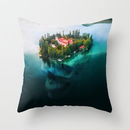 Island Skull Throw Pillow