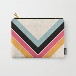 V Shape Colorful Classic Retro Stripes Halmang Carry-All Pouch