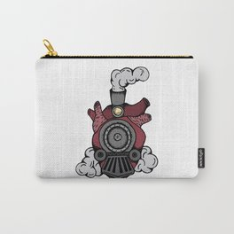 Design locomotive heart tattoo style. Vector illustration Carry-All Pouch