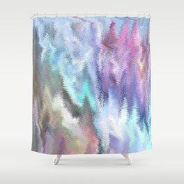 Vibrating Glitch Pastels Shower Curtain