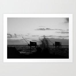 Le Pont du Diable // Le Platin, Saint-Palais Sur Mer, France, 2014 Art Print