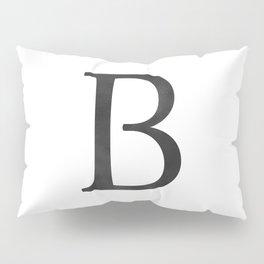 Letter B Initial Monogram Black and White Pillow Sham