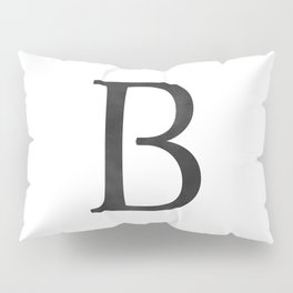 Letter B Initial Monogram Black and White Pillow Sham